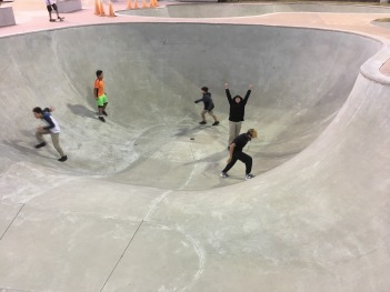 For many kids this was their first time seeing a skate bowl.